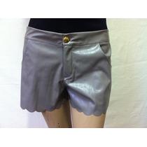 Shorts Chica Fulõ Couro Com Barra A Laser 2350098 Novo