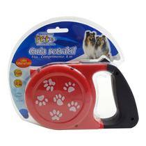 Guia Retrátil Para Cachorro Cães 8m Com Gancho Acessório Pet