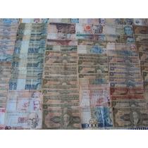 Mega Coleção Com 111 Cédulas Brasileiras Bc E Mbc