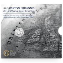 Moeda De Prata 50p - Ss Gairsoppa - Inglaterra - Com Dvd