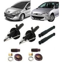 04 Amortecedor Dianteiro + Traseiro + Kits Peugeot 206 / 207