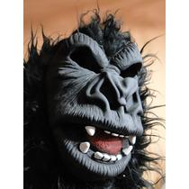 Quase Real Mascara Gorila Com Capuz Peruca Cabeleira 30cm