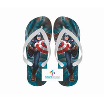 Chinelo Personalizado Super Herói Vários Temas - P27