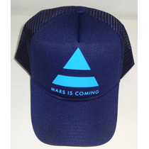 Boné Trucker Cap 30 Seconds To Mars Mar Is Coming