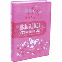Bíblia Sagrada Estudo Entre Meninas E Deus Rosa Teen Luxo