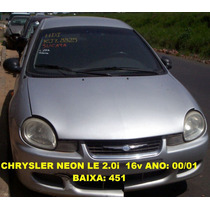 Modulo Injeção (na Troca) Chrysler Neon Le 00/01