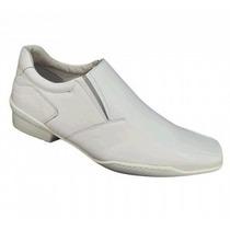 Sapato Branco Em Couro Medico,enfermeiros Veterinarinario,