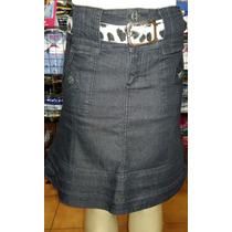 Saia Jeans Moda Evangélica Via Tolentino Com Cinto Tam 40