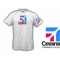 Camiseta Aeromodelismo Cessna Textron Manga - Hobbie Brasil