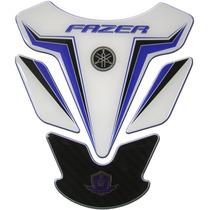 Protetor De Tanque Yamaha Fazer Branco E Carbono Resinado