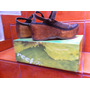 Sandália Em Couro Reef (tam. 35)-salto Plataforma De Madeira