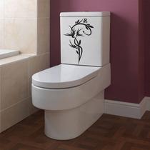 Adesivo Decorativo Parede Banheiro Vaso Sanitário Floral