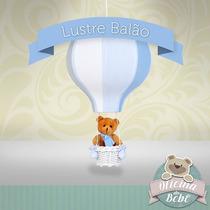 Balão Grande Leão Urso Bebê Menino Luminária Teto Infantil