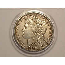 Usa) 1 Dollar - 1886 ( Morgan Dollar ) Vf+ ( Estojo)
