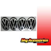Emblema De Alumínio Volkswagen 58mm Original