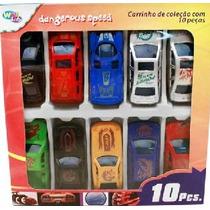 Super Coleção De Carrinhos 10 Peças Dangerous Speed Compreja