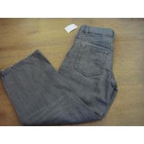 Gap - Calça Jeans Cinza Tam. 5 Anos C/ Elástico Na Cintura