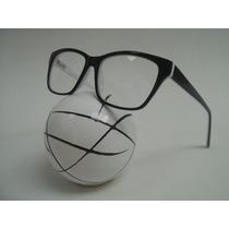 Armação Óculos P/ Grau Masculina Acetato Quadrada Cor Preta