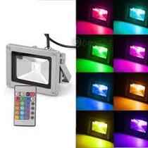 Refletor Holofote De Led Rgb 10w Bi-volts C/ Controle Remoto