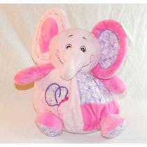 Elefantinho De Pelúcia C/ Chocalho Bebê Berço Menina