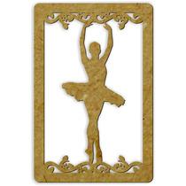 Quadro Decoração Provençal Bailarina Escultura Vazado Mdf