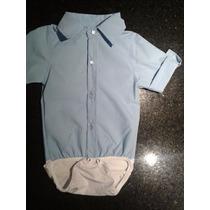 Conjunto Body Camisa Com Calça Jeans Bebê