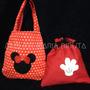 Sacolinha E Saquinho Surpresa Mickey E Minnie (7,50 Cada)
