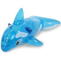 Boia Baleia Transparente Intex