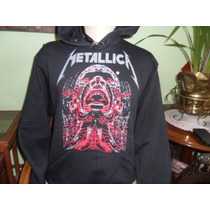 Blusa Moleton Metallica Banda Rock Flanelado