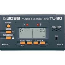 Afinador Metronomo Digital Boss Tu80 Visor Lcd