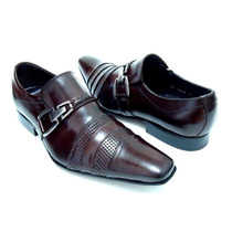 Sapato Social Masculino Em Couro Legítimo Verniz Vinho Luxo!