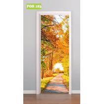 Adesivo Porta Paisagem Natureza Mod. 183
