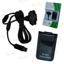 Bateria Carregador 10000mah Cabo 3 Metros Controle Xbox360