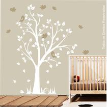 Adesivo Papel Parede Infantil Passaros Safari Arvore Zoo M93