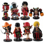 Kit 8 Bonecos One Piece 8 Cm Figures Serie Red Anime Manga