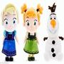 Kit 2 Bonecas De Pelucia Frozen Elza Ana Olaf Baby Musical