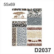 D2037 Adesivo Decorativo Estampa De Bicho Zebra Elefante