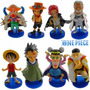 Kit 8 Bonecos One Piece Figures Anime Manga Luffy Ruffy Ace