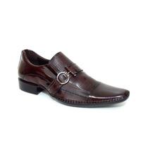 Sapato Masculino Couro Vinho Calçados De Franca Sp Sapatocia