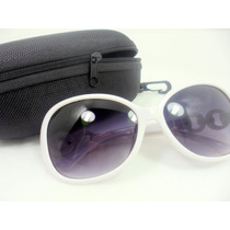 Óculos De Sol Feminino Oval Degradê Luxo Grátis Case Uv 400