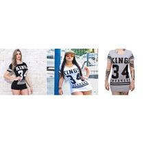 Vestido Estilo Camiseta Kings 34 Moda Panicat 2016