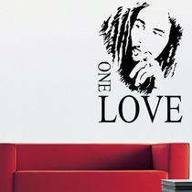 Adesivo De Parede Bob Marley One Love