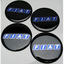 Fundo Chato 50mm Emblemas Centro Rodas Pr/az Fiat Novos