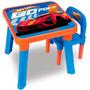 Mesa E Cadeira Hot Wheels - Parcelamento Sem Juros