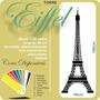 Adesivo Decorativo De Parede Torre Eiffel Paris 160cmx48cm