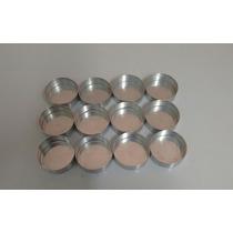 Forminha Pão De Mel Alumínio 4 X 2 Altura Fundo Fixo 12 Unid