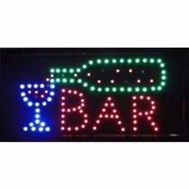 Placa De Led Letreiro Luminoso Painel Bar 110v