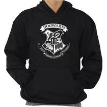 Blusa Hogwarts School Moleton Canguru