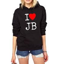 Blusa I Love Justin Bieber Moletom Canguru - Promoção!