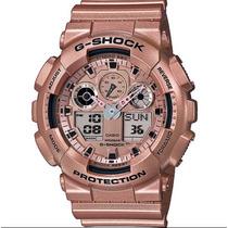 Relogio G-shock Ga-100gd-9adr Ga-100 Ga100 Promoção Em Sp